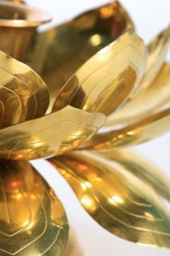 Feldman Lighting Co Feldman Brass Lotus Candle Holders in the Style of Parzinger - 1975123