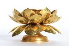 Feldman Lighting Co Feldman Brass Lotus Candle Holders in the Style of Parzinger - 1975125