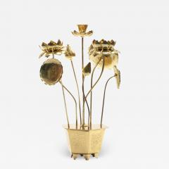 Feldman Lighting Co Feldman Chinoiserie Adjustable Brass Lotus Bouquet Sculpture circa 1970 - 1972948