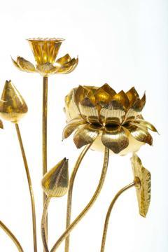 Feldman Lighting Co Feldman Chinoiserie Adjustable Brass Lotus Bouquet Sculpture circa 1970 - 1976529