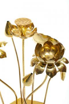 Feldman Lighting Co Feldman Chinoiserie Adjustable Brass Lotus Bouquet Sculpture circa 1970 - 1976531