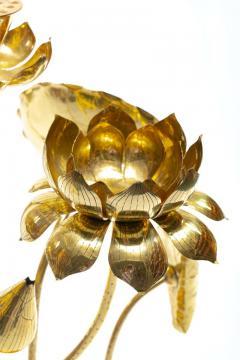 Feldman Lighting Co Feldman Chinoiserie Adjustable Brass Lotus Bouquet Sculpture circa 1970 - 1976532