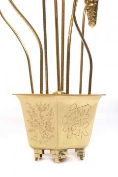 Feldman Lighting Co Feldman Chinoiserie Adjustable Brass Lotus Bouquet Sculpture circa 1970 - 1976533