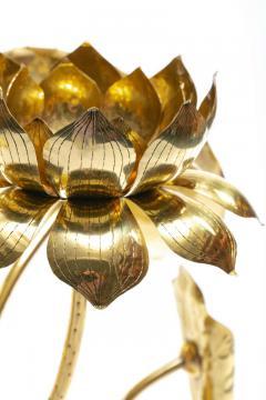 Feldman Lighting Co Feldman Chinoiserie Adjustable Brass Lotus Bouquet Sculpture circa 1970 - 1976537