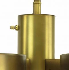 Feldman Lighting Co Feldman Lighting Five Light Hemispherical Milk Glass and Brass Pendant - 52630