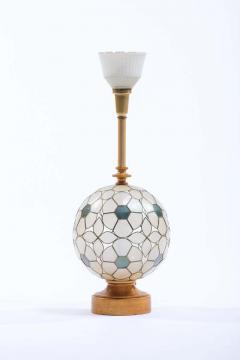 Feldman Lighting Co Feldman White Capiz Shell and Brass Table Lamp circa 1960 - 1975506