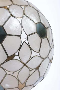 Feldman Lighting Co Feldman White Capiz Shell and Brass Table Lamp circa 1960 - 1975511