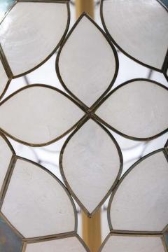 Feldman Lighting Co Feldman White Capiz Shell and Brass Table Lamp circa 1960 - 1975513