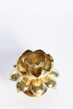 Feldman Lighting Co Large Centerpiece Lotus Candle Holders Pair Available - 1088887