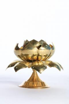 Feldman Lighting Co Large Centerpiece Lotus Candle Holders Pair Available - 1088889