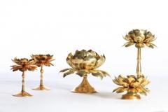 Feldman Lighting Co Large Centerpiece Lotus Candle Holders Pair Available - 1088891