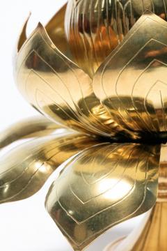 Feldman Lighting Co Large Centerpiece Lotus Candle Holders Pair Available - 1088895