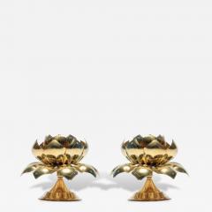 Feldman Lighting Co Large Centerpiece Lotus Candle Holders Pair Available - 1089783