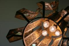 Feldman Lighting Co Large Pair of Moroccan Style Lantern Pendant Lights by Feldman Lighting c 1960 - 2118784