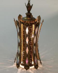 Feldman Lighting Co Large Pair of Moroccan Style Lantern Pendant Lights by Feldman Lighting c 1960 - 2118794
