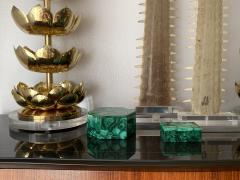 Feldman Lighting Co Pair of Brass Lotus Lamps - 1006075