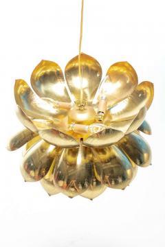 Feldman Lighting Co Pair of Large Brass Lotus Fixtures by Feldman in the Style of Tommi Parzinger - 1976539