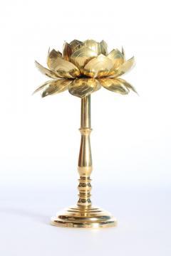 Feldman Lighting Co Rare Pair of Tall Brass Candle Sticks by Feldman circa 1960s - 1088813