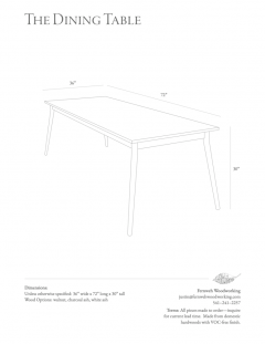 Fernweh Woodworking THE DINING TABLE WALNUT - 1411145