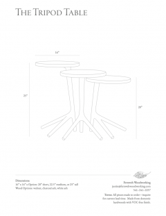 Fernweh Woodworking THE TRIPOD TABLE WHITE ASH - 1411236