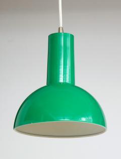 Fog M rup Danish Green Mid Century Dome Pendant with White Cord c 1960 - 2115332