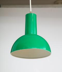Fog M rup Danish Green Mid Century Dome Pendant with White Cord c 1960 - 2115335