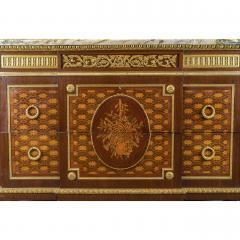 Forest Ormolu Mounted Parquetry Marquetry Mahogany Marble Top Commode - 1990731