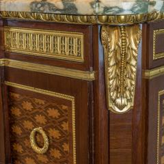 Forest Ormolu Mounted Parquetry Marquetry Mahogany Marble Top Commode - 1990732