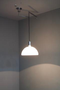 Franco Albini Franca Helg Antonio Piva Sirrah Am as Ceiling Lamp with Swing Arm Glass and Chrome Franco Albini 1960s - 1168091