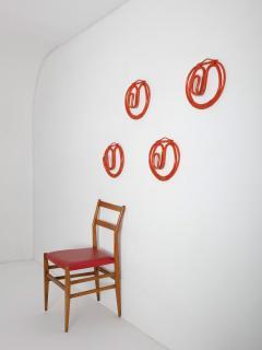 Franco Albini Franca Helg Set of Four Wall Hooks by Albini Helg for Bonacina - 1193711