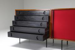 Franco Campo Carlo Graffi Black and Red Sideboard by Franco Campo and Carlo Graffi 1950s - 1960873