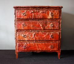 Francois Archiguille Francois Archiguille Custom Painted Red Commode Chest Unique Piece - 782723