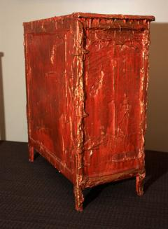 Francois Archiguille Francois Archiguille Custom Painted Red Commode Chest Unique Piece - 782724