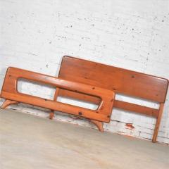 Franklin Shockey Furniture Mid century modern franklin shockey sculpted pine full size bed - 1609360