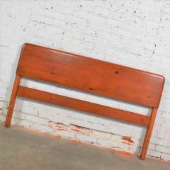 Franklin Shockey Furniture Mid century modern franklin shockey sculpted pine full size bed - 1609387