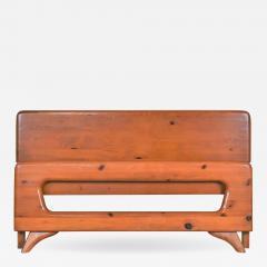 Franklin Shockey Furniture Mid century modern franklin shockey sculpted pine full size bed - 1610536