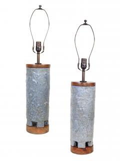 Frederick Raymond Pair of Mid Century Ceramic Table Lamps - 646004