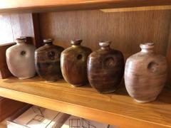 Freres Cloutier Set of Five Glazed Ceramic Gourds - 2007121