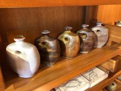 Freres Cloutier Set of Five Glazed Ceramic Gourds - 2007122