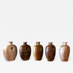 Freres Cloutier Set of Five Glazed Ceramic Gourds - 2010013