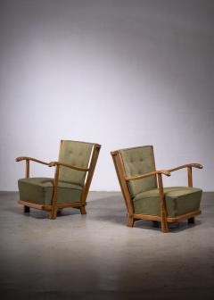 Frits Schlegel Pair of Fritz hansen model 1594 armchairs - 1914445