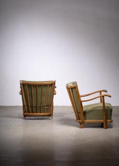 Frits Schlegel Pair of Fritz hansen model 1594 armchairs - 1914446