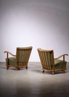 Frits Schlegel Pair of Fritz hansen model 1594 armchairs - 1914447