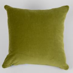 Full Circle Modern Original One of a kind square quilted pillow in green blue and lavender cotton - 662367