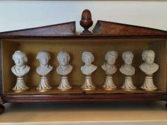 Furstenberg Porcelain Seven Miniature Furstenberg Biscuit Porcelain Busts of English Men of Letters - 670002