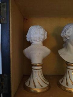 Furstenberg Porcelain Seven Miniature Furstenberg Biscuit Porcelain Busts of English Men of Letters - 670003