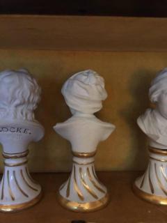 Furstenberg Porcelain Seven Miniature Furstenberg Biscuit Porcelain Busts of English Men of Letters - 670004