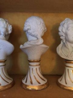 Furstenberg Porcelain Seven Miniature Furstenberg Biscuit Porcelain Busts of English Men of Letters - 670005