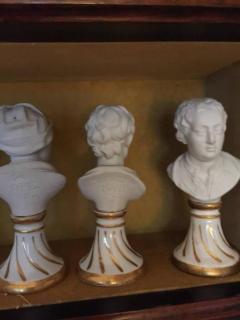 Furstenberg Porcelain Seven Miniature Furstenberg Biscuit Porcelain Busts of English Men of Letters - 670006