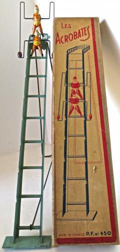 G Doloy Vintage French Toy Les Acrobates Circa 1920 - 698848